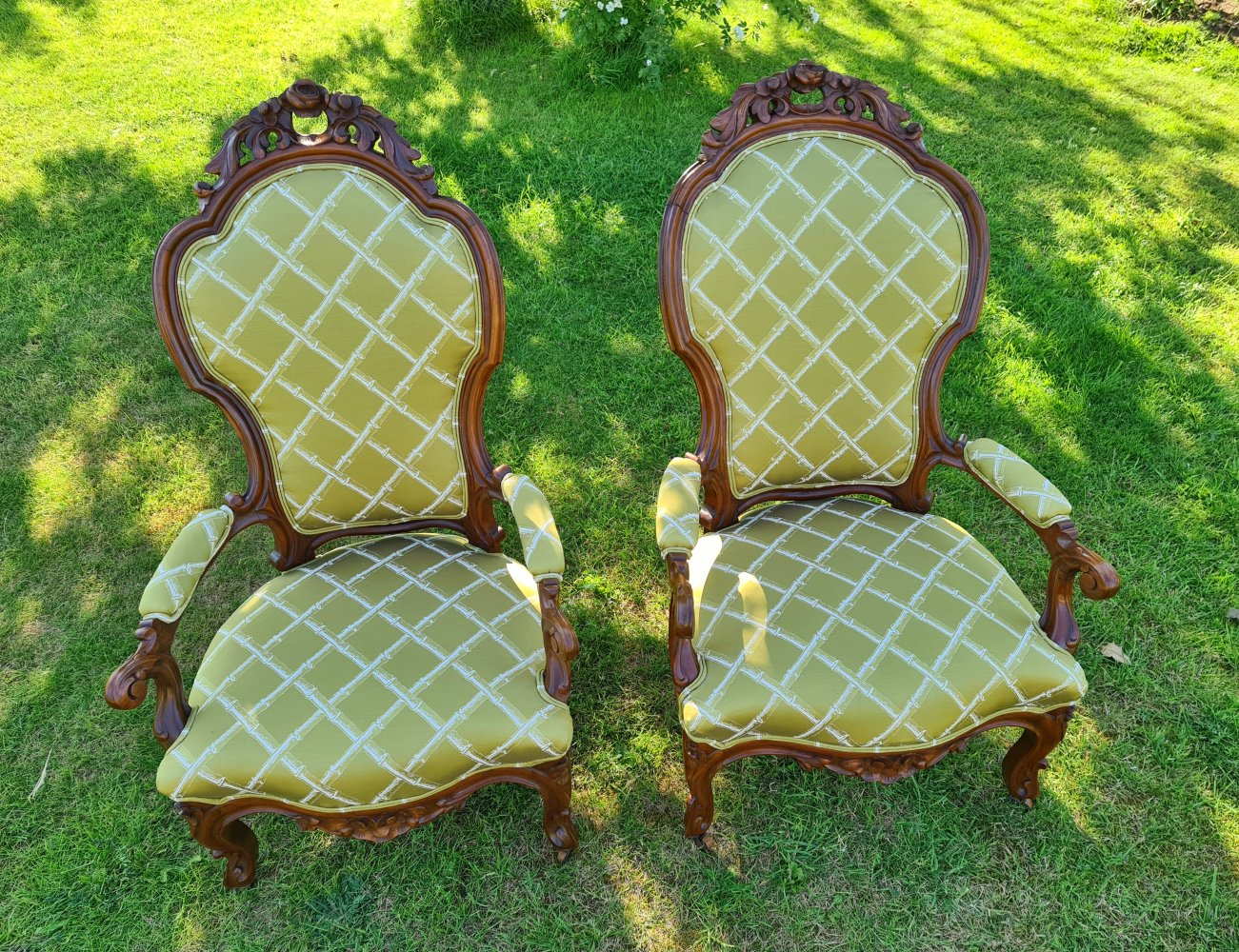 Pair of chairs after restoration