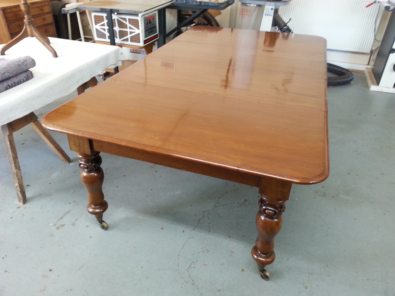 Re-finished dining table