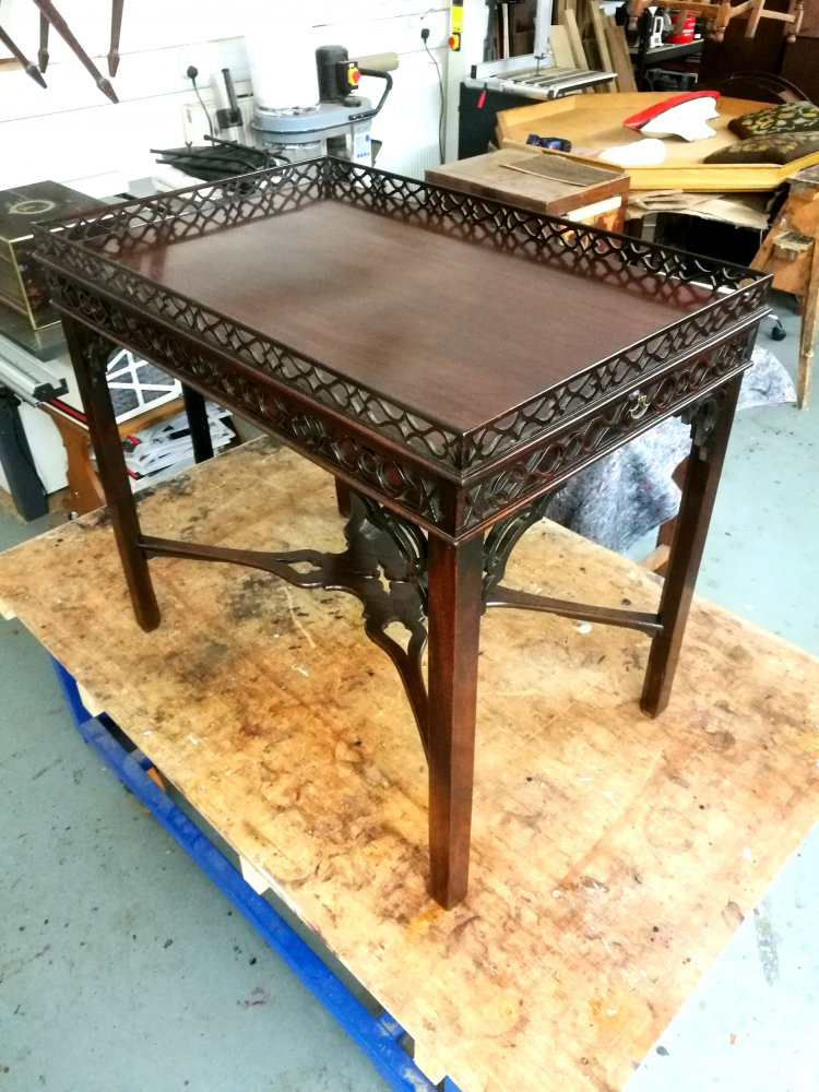 Water damaged table restored
