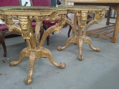 Pair of gilt tables