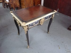 Mahogany gold gilded table